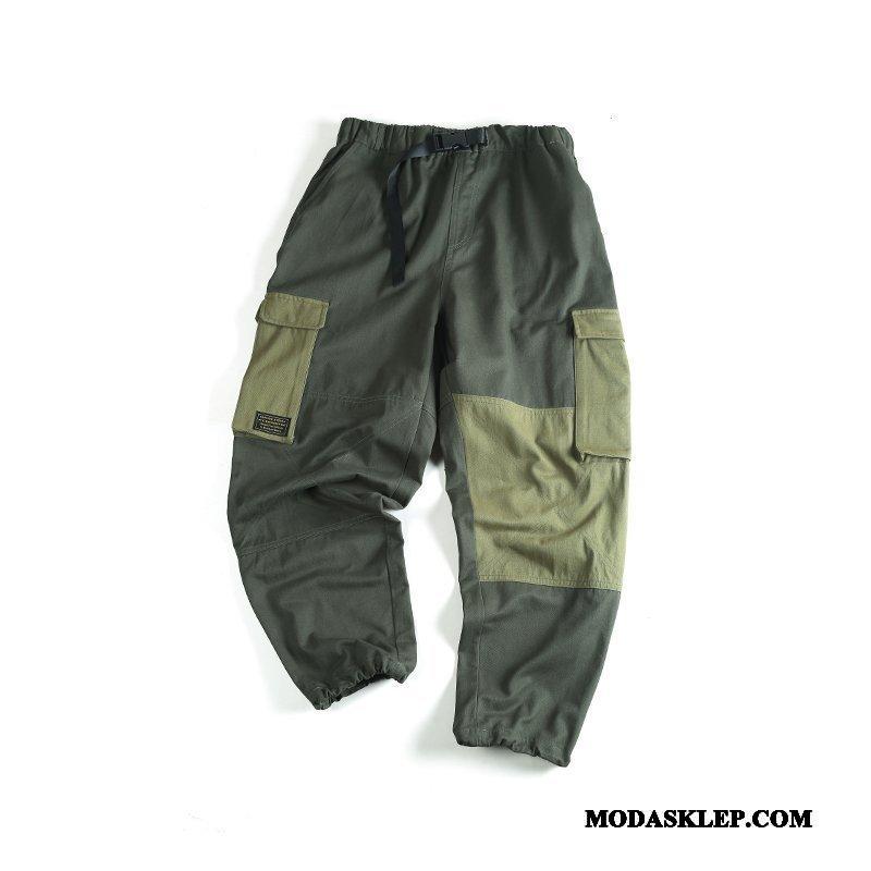 Męskie Spodnie Cargo Kup Tendencja Swag Ołówkowe Spodnie Męska Lato Mieszane Kolory Czarny