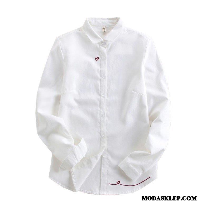 Damskie Bluzka Online Damska Krowa Koszula Art 2019 Czysta Biały