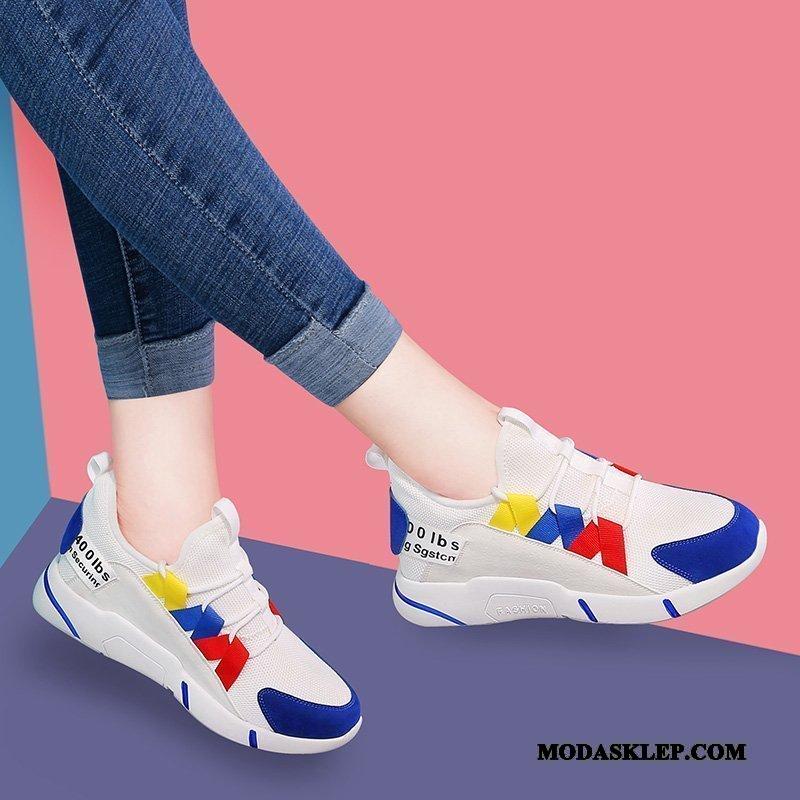 Damskie Buty Sportowe Na Sprzedaż Student Trampki Casual Wszystko Pasuje Pojedyncze Buty Niebieski Czerwony