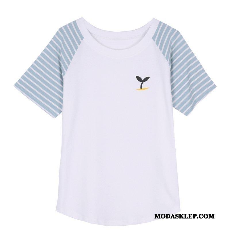 Damskie Koszulki Kup Lato Szerokie Lady Krótki Rękaw T-shirt Biały
