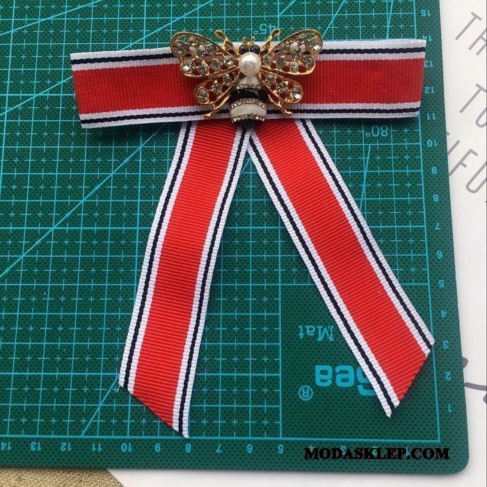Damskie Muszka Na Sprzedaż Broszka Damska Vintage Brytyjski Akcesoria Czerwony