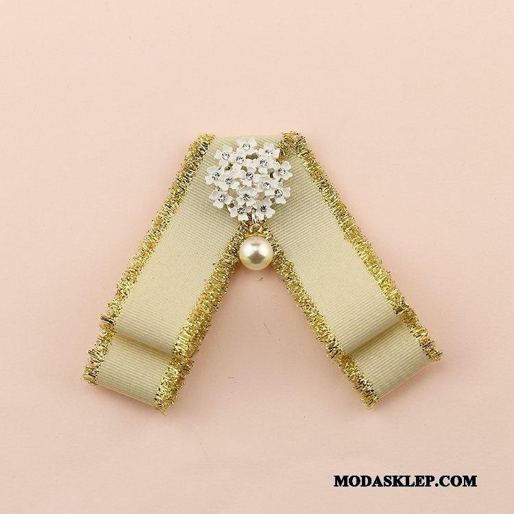 Damskie Muszka Na Sprzedaż Perfumowany Brytyjski Dekoracja Mundurek Szkolny Sweter Złoty
