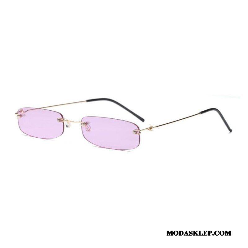Damskie Okulary Przeciwsłoneczne Online Mini Awangardowy Wąskie Moda Męska Fioletowy