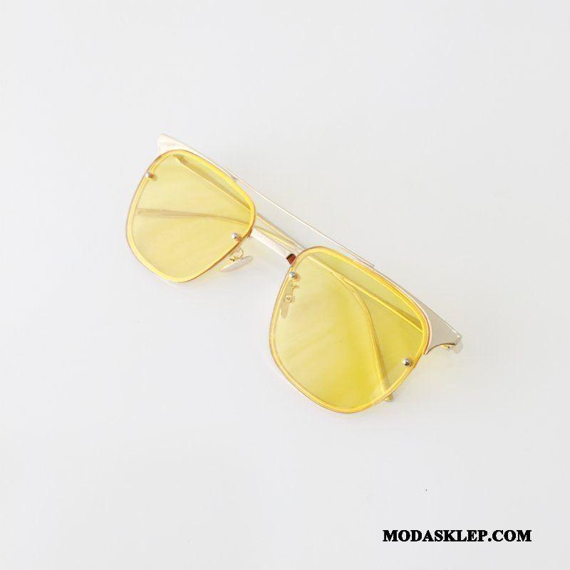 Damskie Okulary Przeciwsłoneczne Sprzedam Osobowość Kwadratowy Trendy Damska Przezroczysty Kolor Złoty Żółty