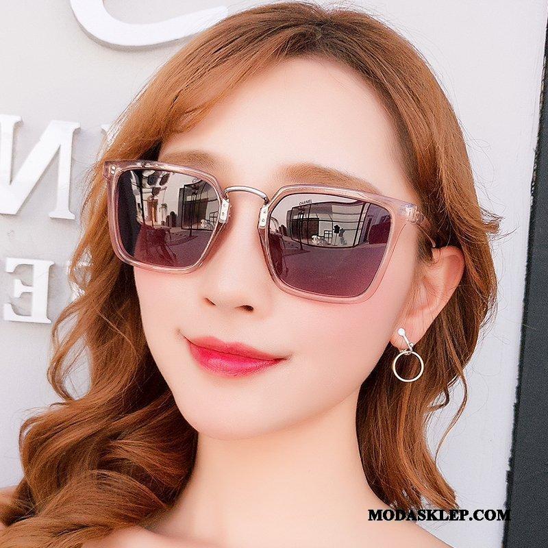 Damskie Okulary Przeciwsłoneczne Tanie Damska Ochrona Przed Słońcem 2019 Vintage Nowy Fioletowy Proszek