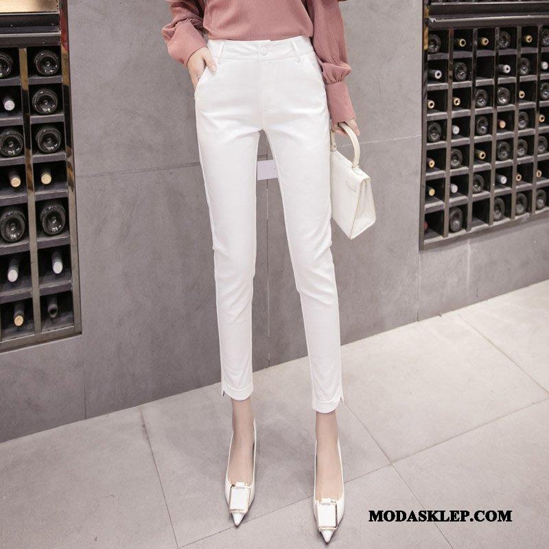 Damskie Spodnie Kup Ołówkowe Spodnie Garnitury 2019 Damska Casualowe Spodnie Karmel Biały Czarny