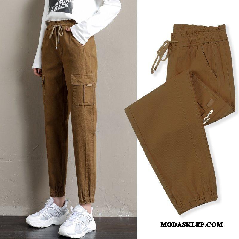 Damskie Spodnie Na Sprzedaż Casualowe Spodnie Piękny Harlan Spodnie Cargo Szerokie Khaki