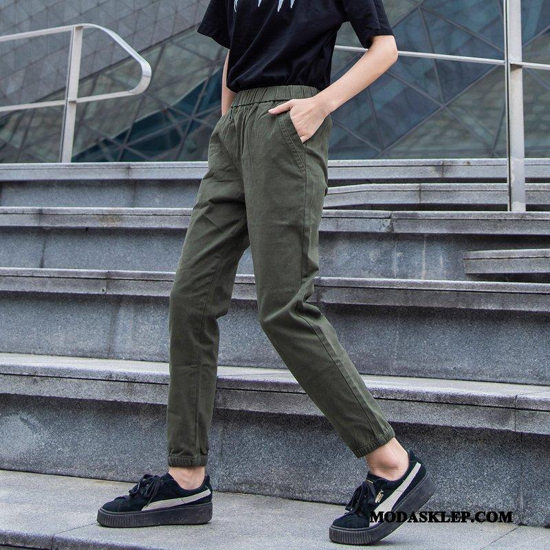 Damskie Spodnie Oferta Casualowe Spodnie Slim Fit Spodnie Dresowe Tendencja Szerokie Zielony