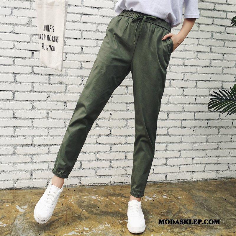 Damskie Spodnie Sklep Szerokie Spodnie Cargo Cienkie Tendencja Spodnie Dresowe Zielony