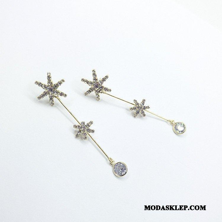 Damskie Srebrna Biżuteria Tanie Płatek Śniegu Damska Eleganckie Wszystko Pasuje Moda Złoty Srebrny