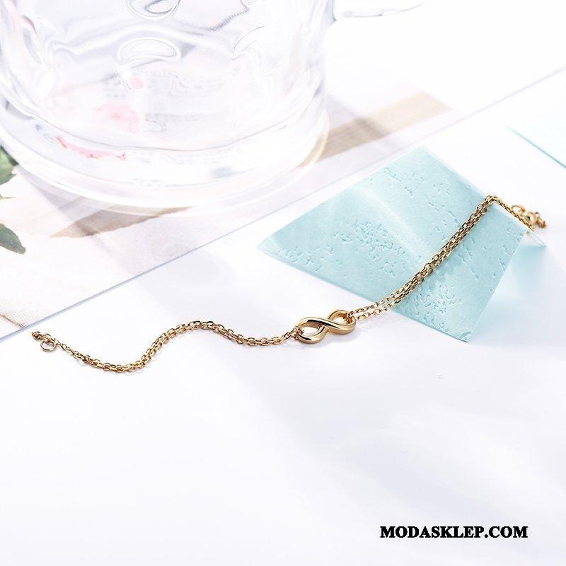 Damskie Srebrna Biżuteria Tanie Wszystko Pasuje Podwójna Pure Prosty Damska Złoty Srebrny