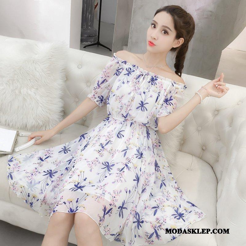 Damskie Sukienka Sprzedam Nowy Świeży Wakacje Mały Piękny Biały