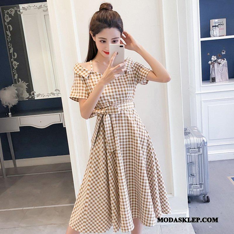 Damskie Sukienka Sprzedam Tendencja Długie Wysoki Stan Lato Nowy Khaki Jasny