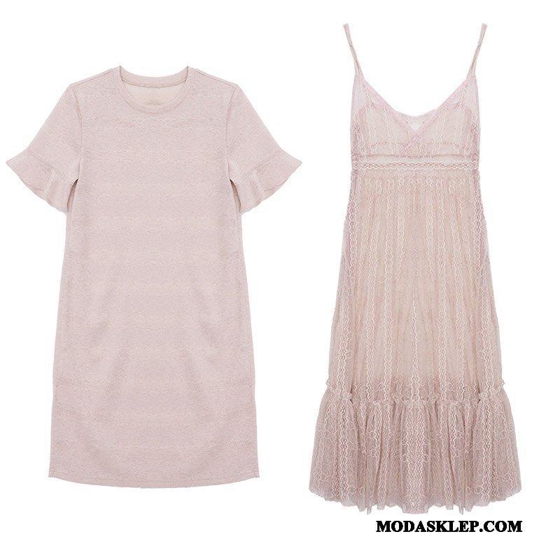 Damskie Sukienka Tanie Świeży Lato Ciasno W Talii 2019 Rękawy Proszek