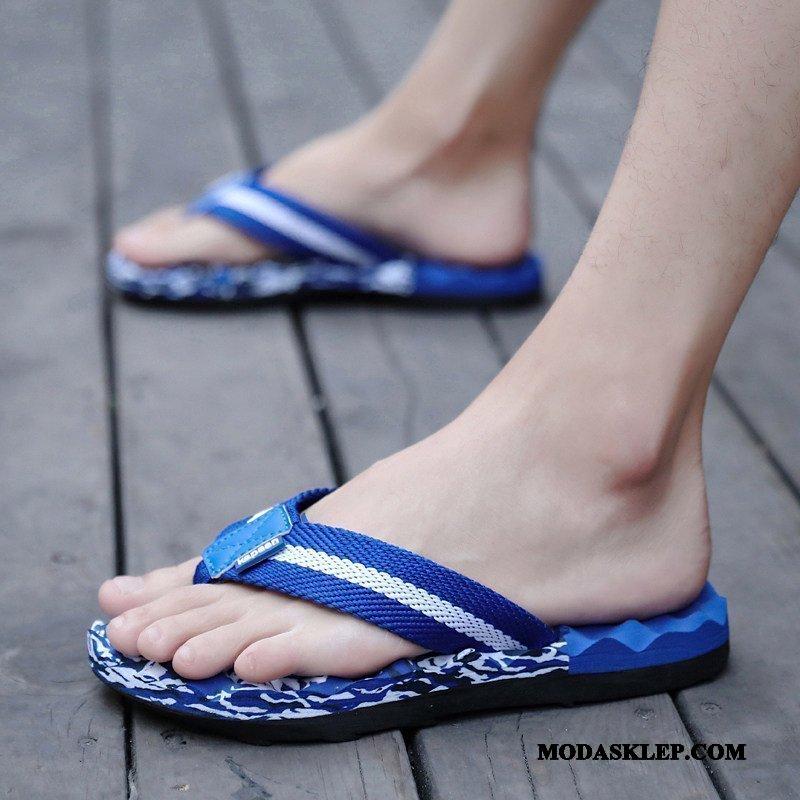 Męskie Japonki Sprzedam Moda Tendencja Casual Student Duży Rozmiar Niebieski
