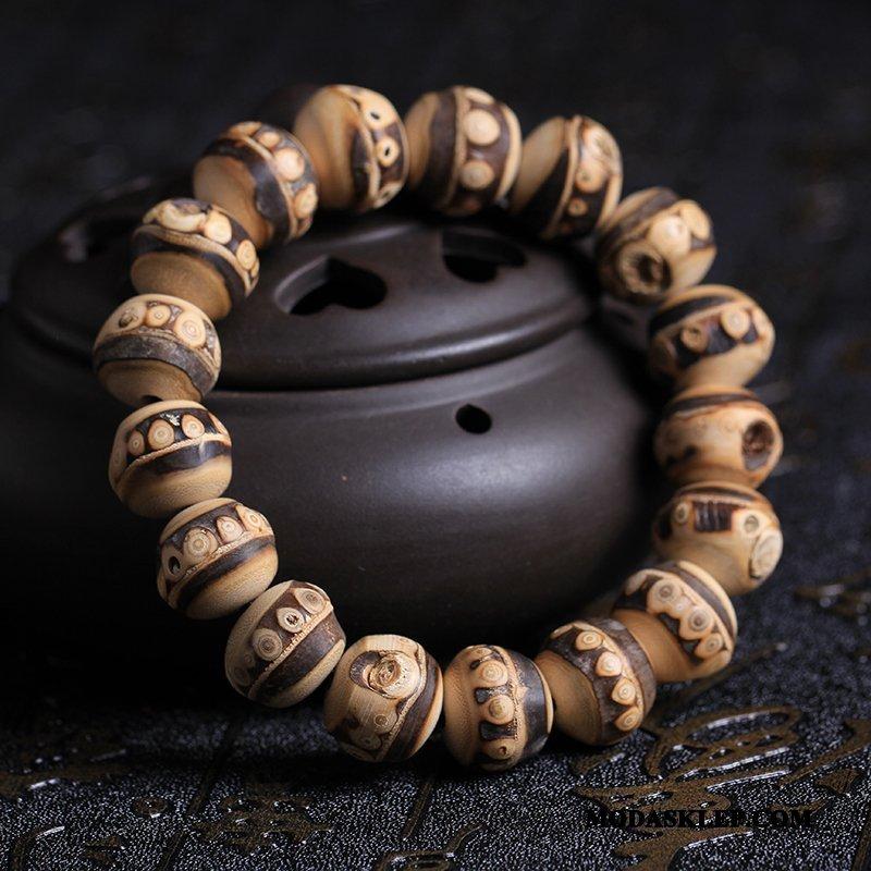 Męskie Koraliki Bransoletki Sprzedam Pure Bambus Ręcznie Robione Męska Naturalny Fioletowy Brązowy