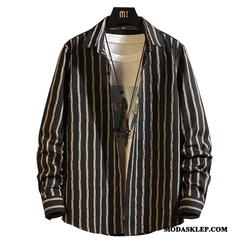 Męskie Koszula Sprzedam Duży Rozmiar Topy Długi Rękaw Tendencja Nowy Czarny