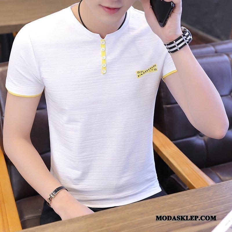 Męskie Koszulki Tanie Męska Tendencja Lato 2019 T-shirt Biały