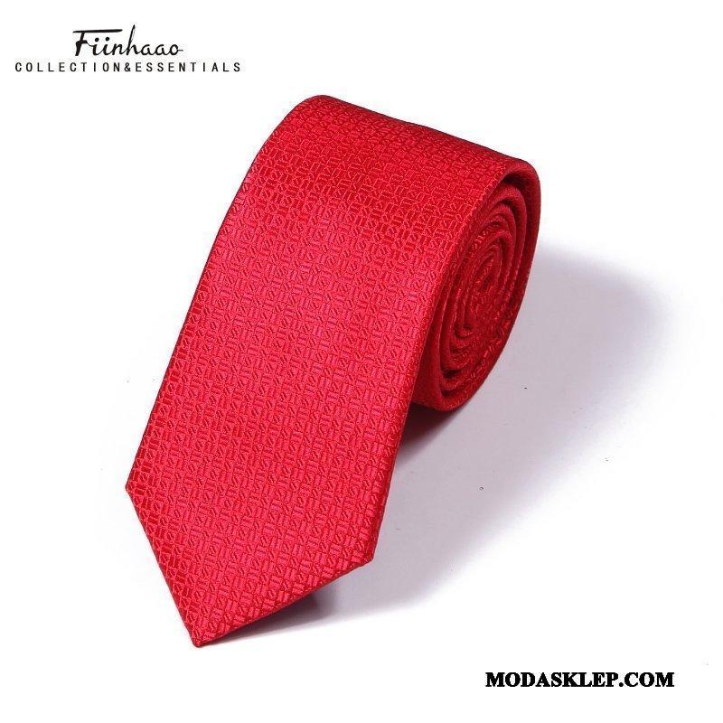 Męskie Krawat Oferta Sukienka Casual Ślubna Z Pracy Męska Różowy Proszek Czerwony