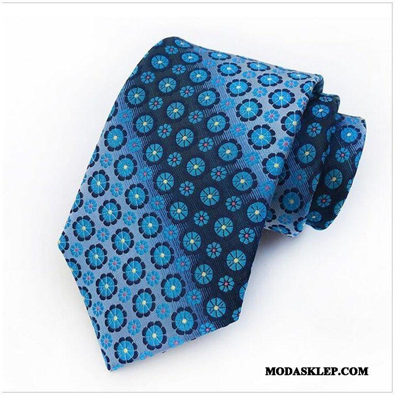 Męskie Krawat Sklep Ślubna Kwiaty Nowy Męska Brytyjski Niebieski