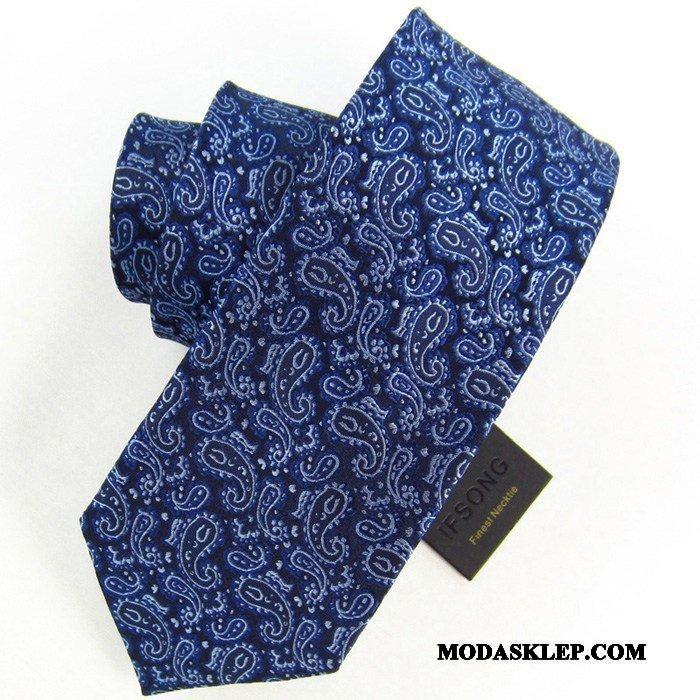 Męskie Krawat Sklep Casual Biznes Sukienka Z Pracy Pan Młody Niebieski