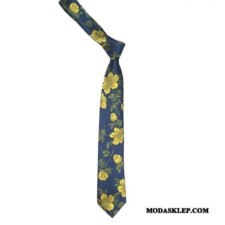 Męskie Krawat Sklep Koszula Wielki Vintage Damska Kwiaty Niebieski Fioletowy Czerwony