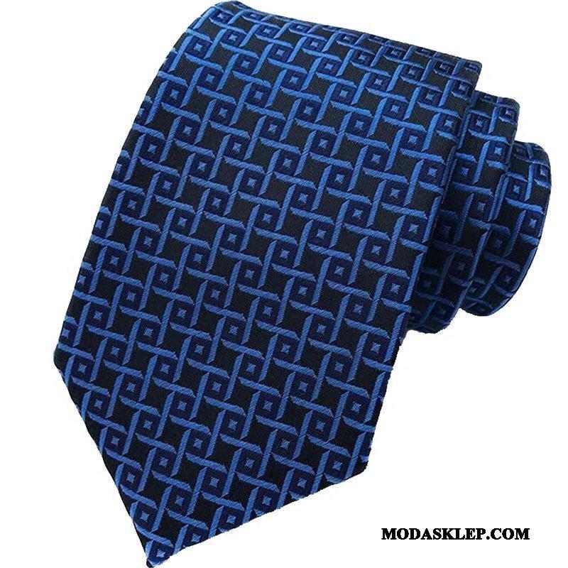 Męskie Krawat Sklep Krata Moda Biznes Nowy W Paski Niebieski