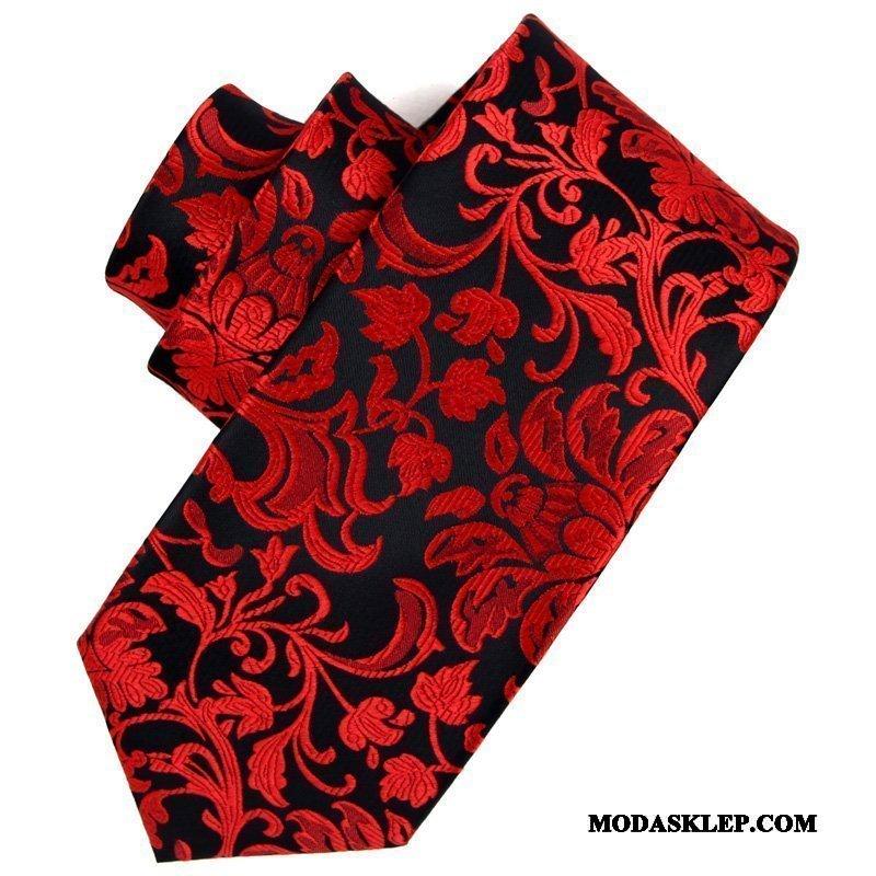 Męskie Krawat Sklep Kwiatowa Męska Sukienka Biznes Ślubna Biały Szary Czarny Czerwony