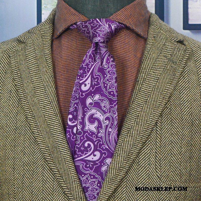 Męskie Krawat Sklep Męska Każdego Dnia Pan Młody Gospodarz Wysoki Koniec Złoty Fioletowy Szary