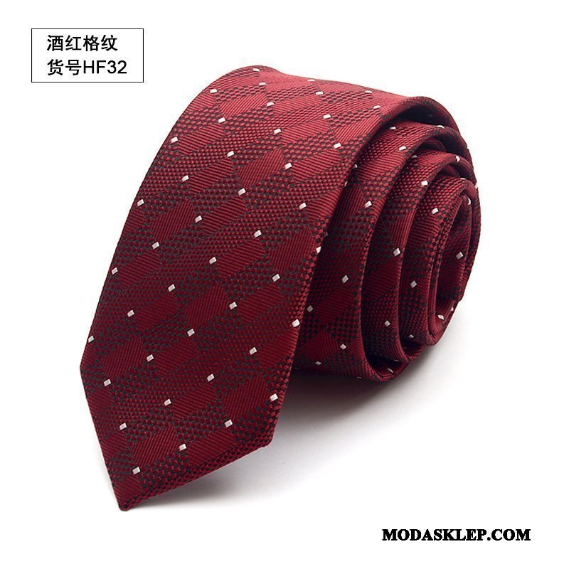 Męskie Krawat Sprzedam Brytyjski Casual W Kratę Wąskie Damska Burgund Niebieski Czarny