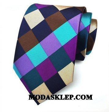 Męskie Krawat Sprzedam Casual Nowy Krata Dżentelmen Moda Kolor