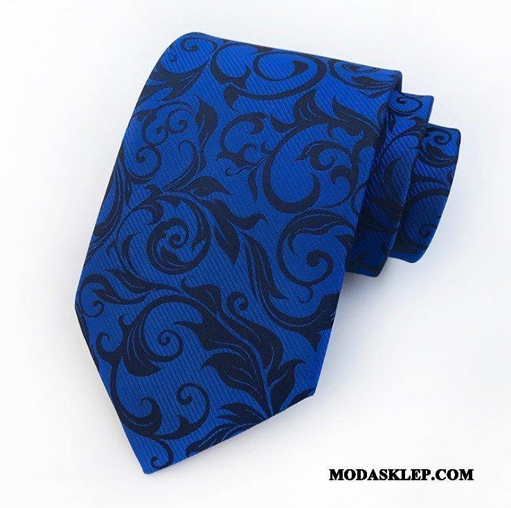 Męskie Krawat Sprzedam Kwiaty Vintage Student Sukienka Męska Niebieski