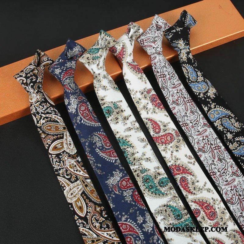 Męskie Krawat Sprzedam Męska Vintage Wzór Eleganckie Wielki Biały