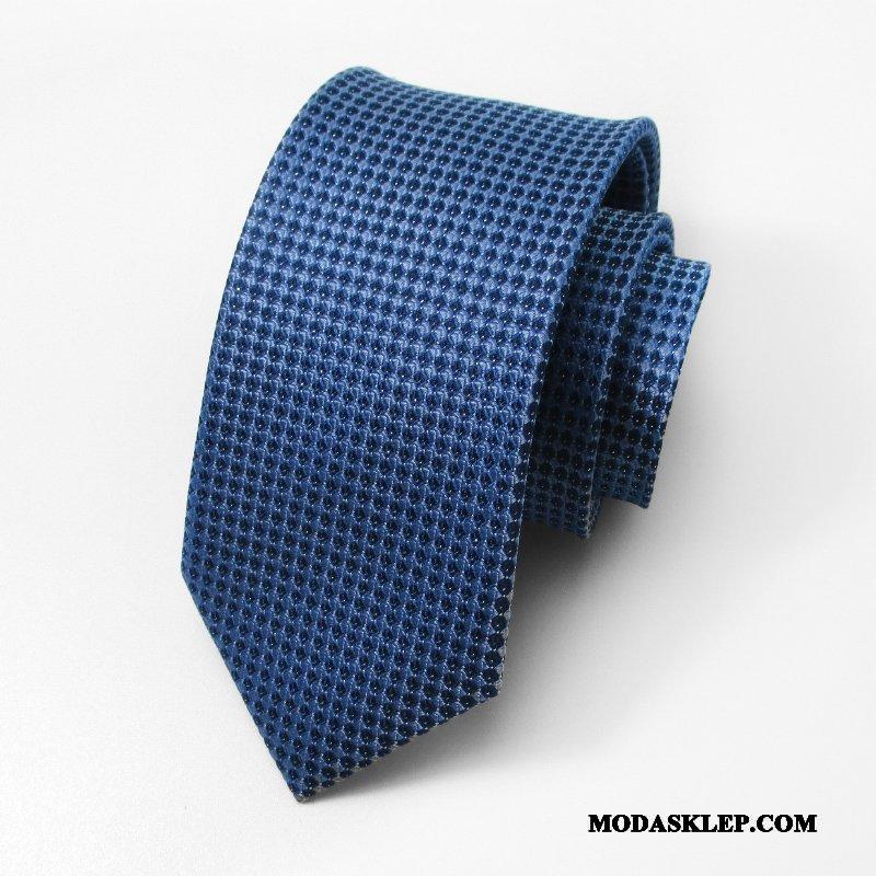 Męskie Krawat Sprzedam Pan Młody Biznes Sukienka 7 Cm Moda Niebieski