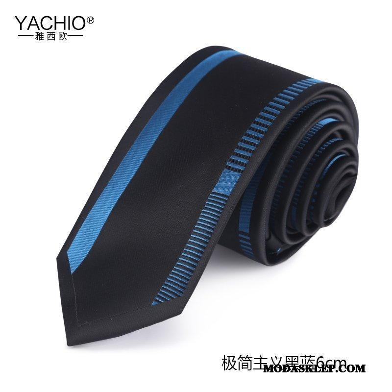 Męskie Krawat Sprzedam Pudełko Na Prezenty 6 Cm Biznes Oryginalny Męska Czarny