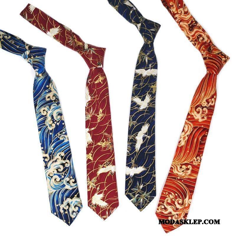 Męskie Krawat Sprzedam Vintage Trendy Kwiaty Każdego Dnia Damska Granatowy Złoty