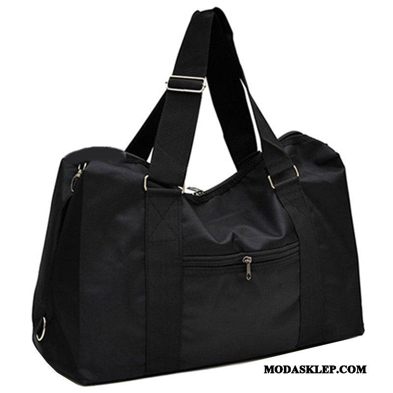 Męskie Plecak Podróżny Sklep Nylon Męska Podróż Służbowa Torba Podróżna Duża Pojemność Czarny
