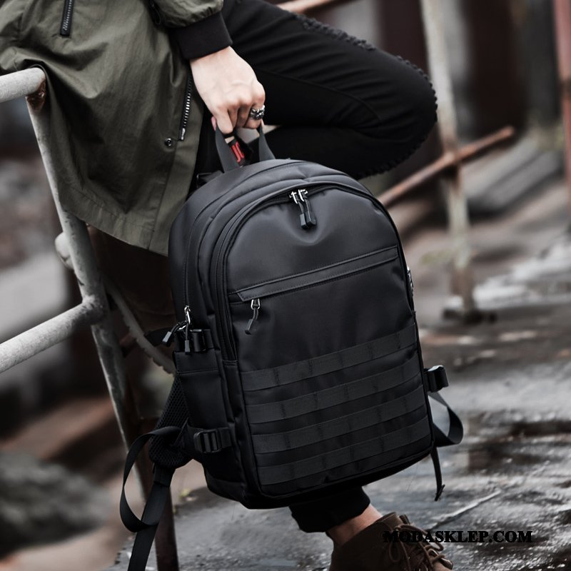 Męskie Plecak Podróżny Sprzedam Tornister Szkolny Student Moda Męska Casual Czarny