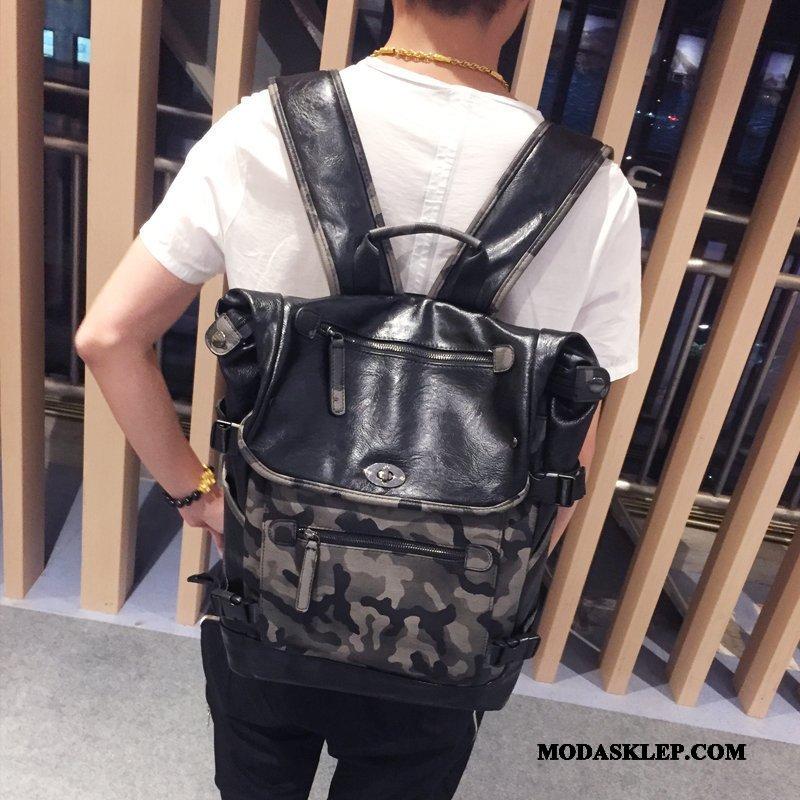 Męskie Plecak Sprzedam Moda 2019 Męska Tornister Szkolny Nowy Kamuflaż Czarny
