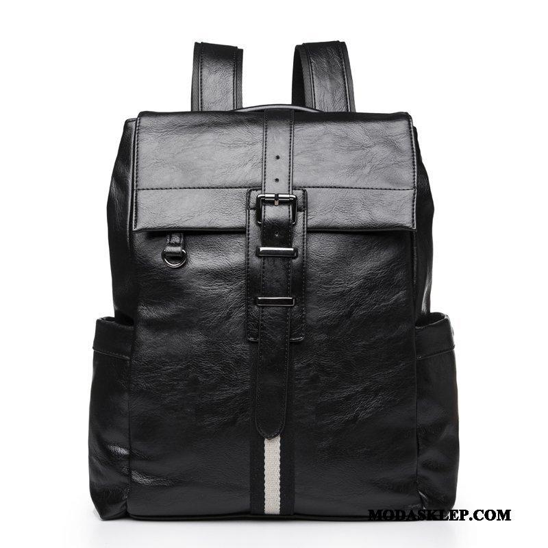 Męskie Plecak Sprzedam Moda Casual Biznes Męska Prawdziwa Skóra Czarny