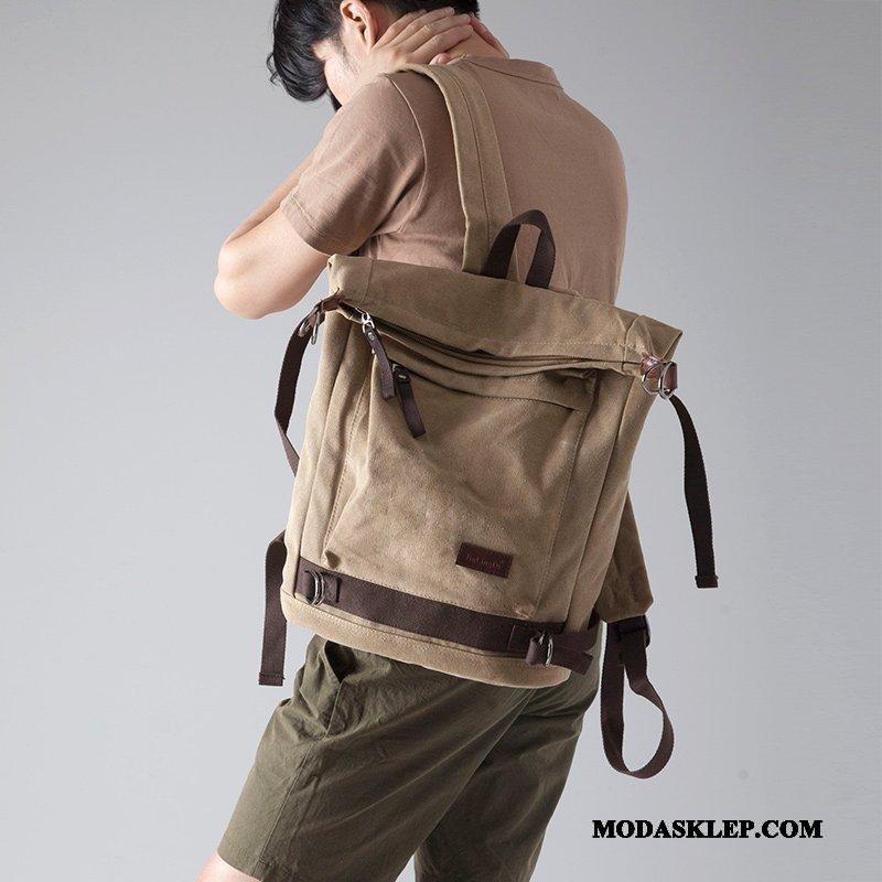 Męskie Plecak Sprzedam Podróż Moda Płótno Student Męska Khaki