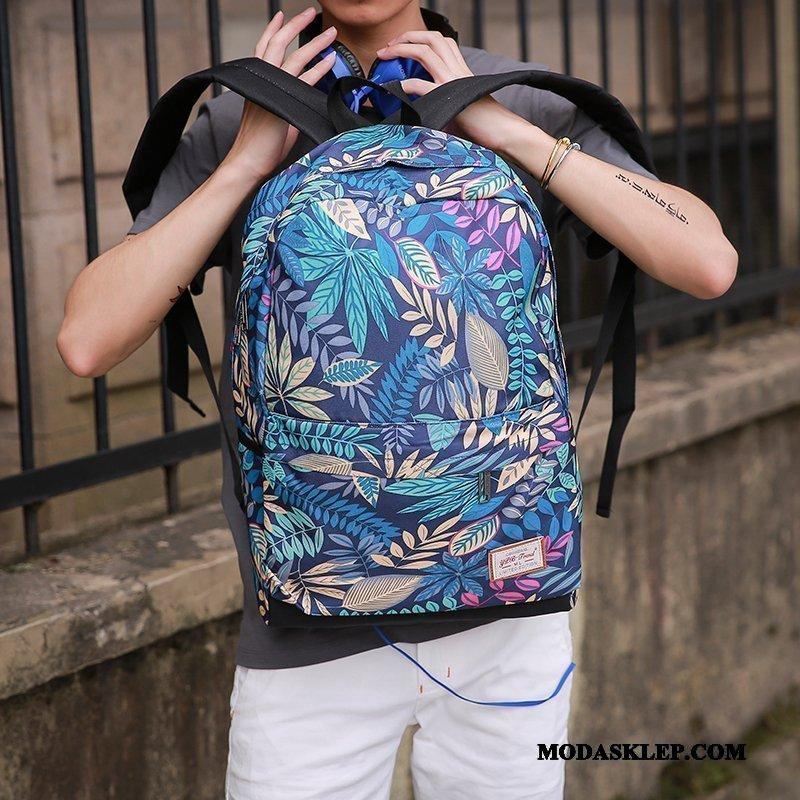Męskie Plecak Tanie Podróż Moda Męska Trendy Torba Na Komputer Czarny