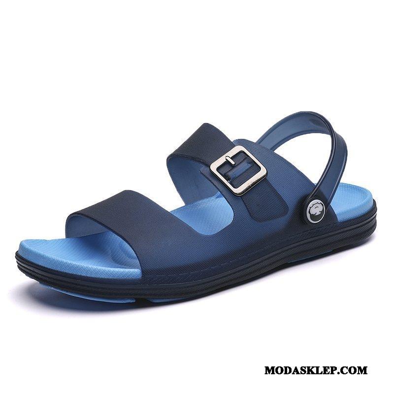 Męskie Sandały Dyskont Moda Odzież Wierzchnia Antypoślizgowe Plażowe Tendencja Niebieski
