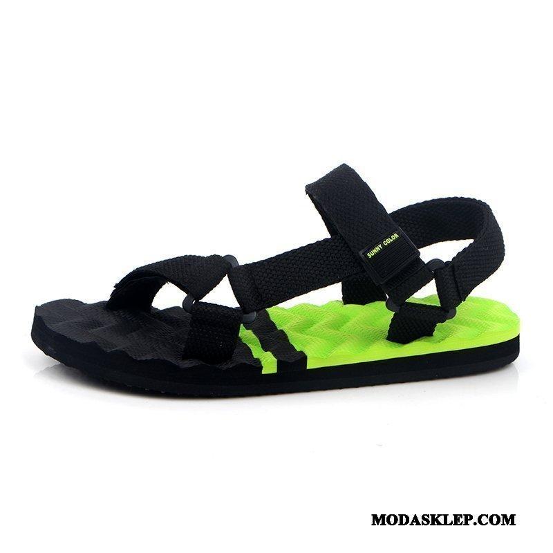 Męskie Sandały Na Sprzedaż Osobowość Casual Lato Plażowe Wszystko Pasuje Zielony