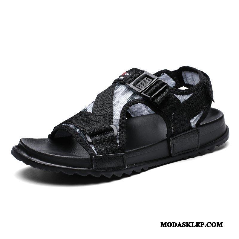 Męskie Sandały Sklep Odzież Wierzchnia Lato Moda Plażowe Kapcie Czarny
