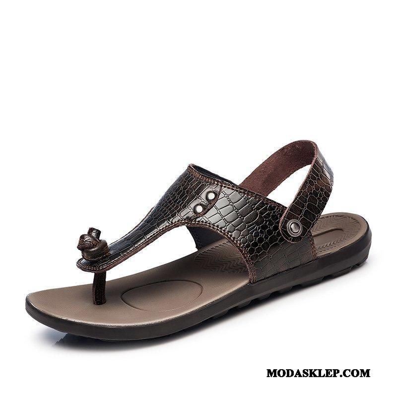 Męskie Sandały Sprzedam Buty Plażowe Duży Męska Duży Rozmiar Brązowy