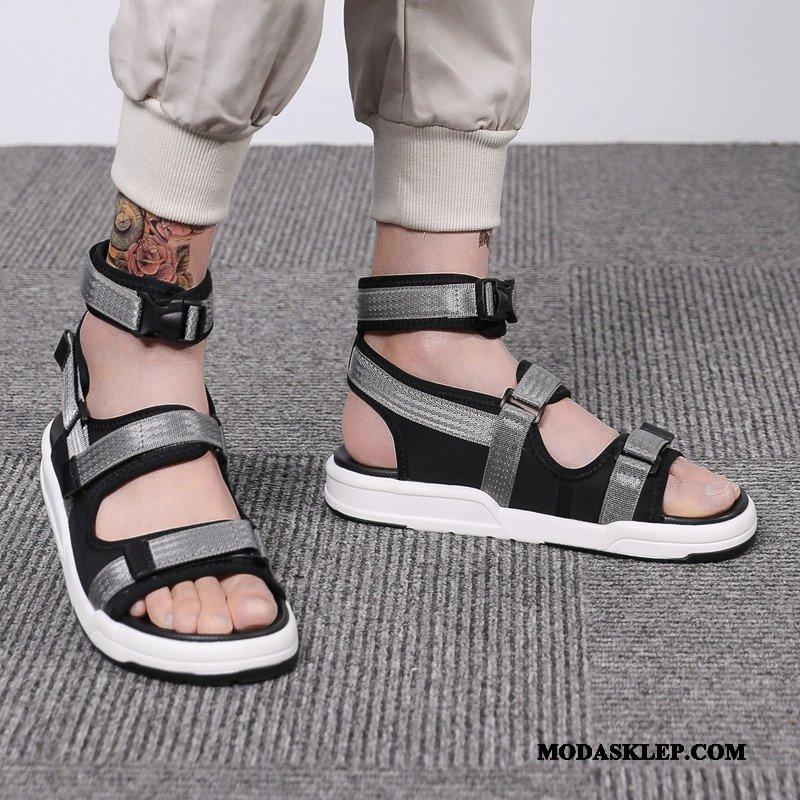 Męskie Sandały Tanie 2019 Casual Odzież Wierzchnia Tendencja Lato Szary