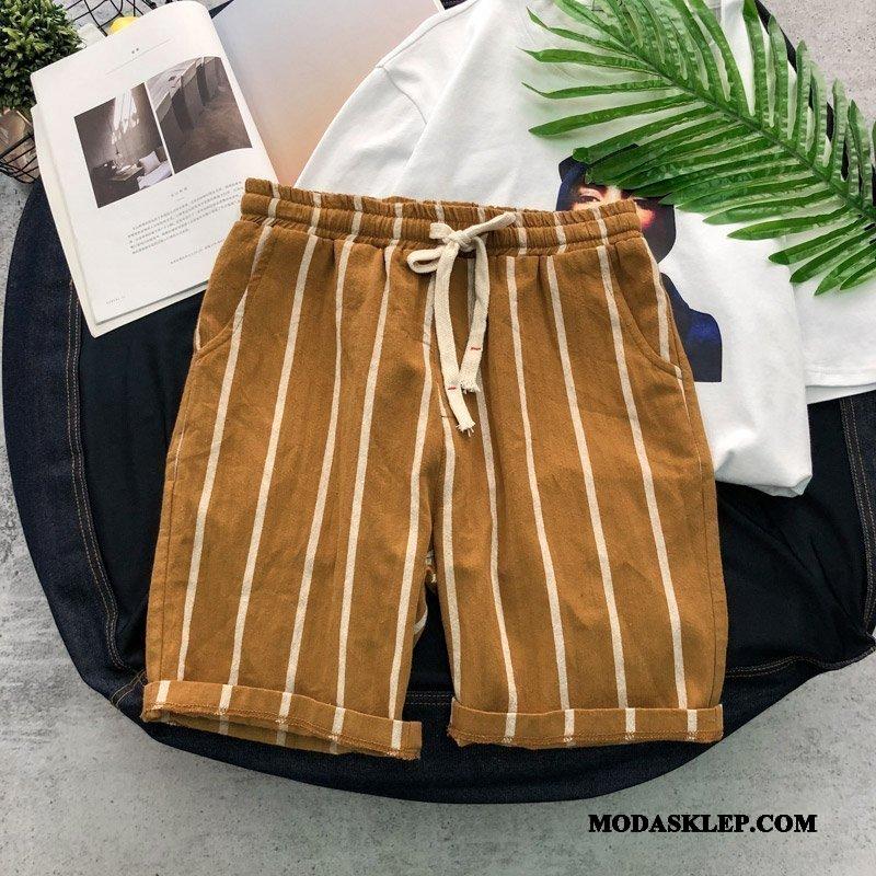 Męskie Spodenki Na Sprzedaż Casualowe Spodnie Lato Tendencja Sportowe Vintage Khaki