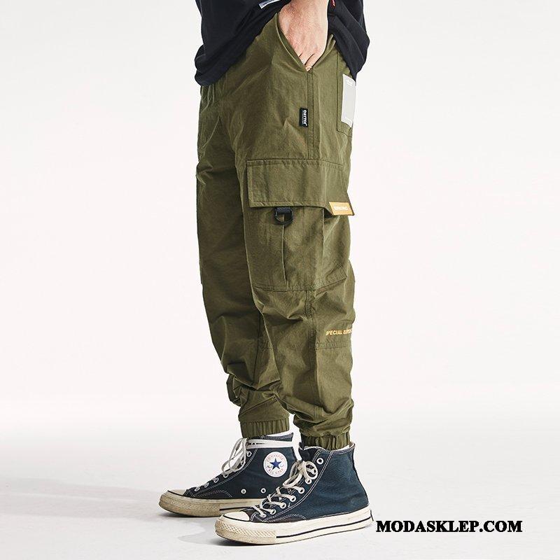Męskie Spodnie Cargo Kupię Tendencja Nowy Slim Fit Męska Spodnie Dresowe Czysta Zielony