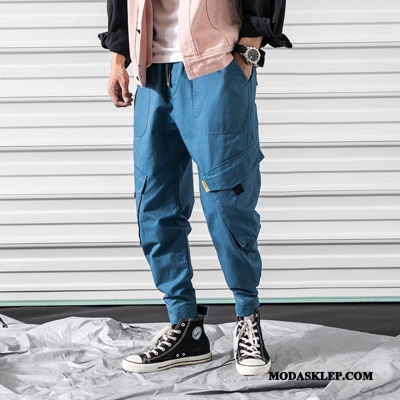 Męskie Spodnie Cargo Sprzedam Nastolatek Duże Szerokie Kieszenie Spodnie Dresowe Niebieski
